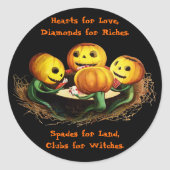 Pumpkins at Cards Halloween Stickers
