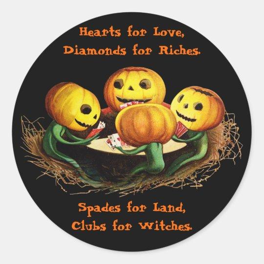 Pumpkins at Cards Halloween Stickers