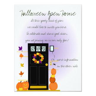 Pumpkins at the Door Card