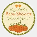 Pumpkins Autumn Guest Favor Thank You Classic Round Sticker