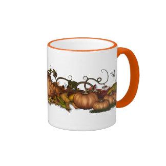 Pumpkins & Autumn Leaves Ringer Coffee Mug