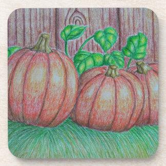 Pumpkins Beverage Coasters