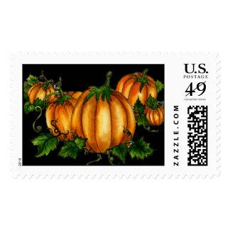 PUMPKINS by SHARON SHARPE Postage Stamp