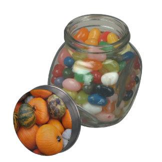 pumpkins candy jar glass candy jar