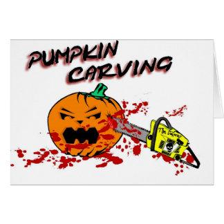 Pumpkins Carving Card