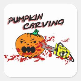 Pumpkins Carving Square Sticker