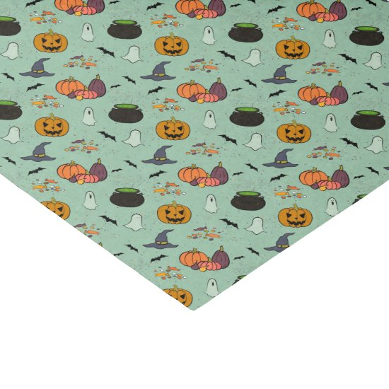 Pumpkins, Cauldrons, Ghosts, Witches Hat Tissue Tissue Paper