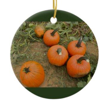Halloween Themed Pumpkins Ceramic Ornament