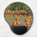 Pumpkins, Corn and Hay Autumn Harvest Photography Gel Mouse Pad