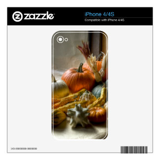 Pumpkins Decor Skins For iPhone 4S