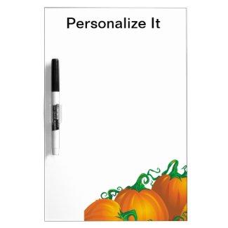 Pumpkins Dry Erase Board