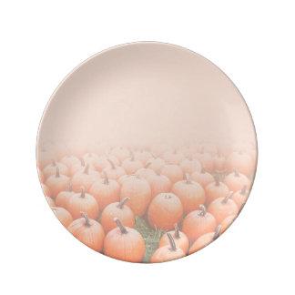 Pumpkins Fading Porcelain Plate