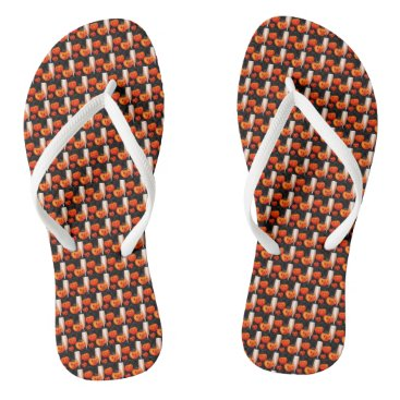 Beach Themed Pumpkins Flip Flops