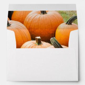 Pumpkins for Sale at a Farmer's Market Envelope