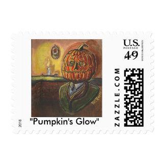 """Pumpkin's Glow"" Postage Stamp"