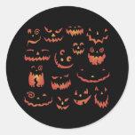 Pumpkins Glowing Classic Round Sticker