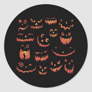 Pumpkins Glowing Stickers