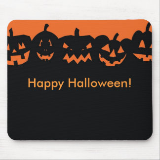 Pumpkins Halloween Holiday Festive Mouse Pad