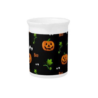 Pumpkins - Halloween pattern Drink Pitcher