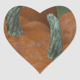 pumpkins heart sticker