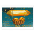 Pumpkins in Flying Basket Postcard