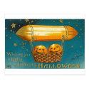 Pumpkins in Flying Basket Postcard