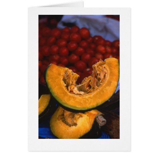 """Pumpkins in Market"" Card"