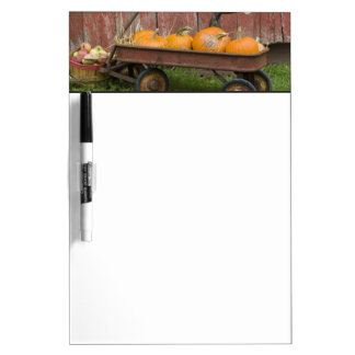 Pumpkins in old wagon Dry-Erase whiteboard