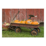Pumpkins in old wagon photo art