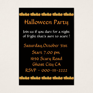 Pumpkins Invitation for Halloween Party
