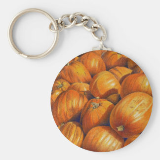 Pumpkins Basic Round Button Keychain