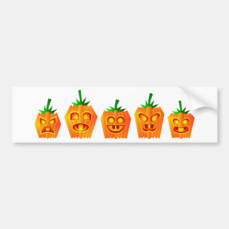 Pumpkins Lined Up Bumper Sticker