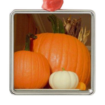 Halloween Themed Pumpkins Metal Ornament