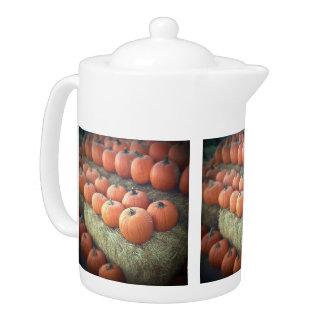 Pumpkins On Display - Teapot