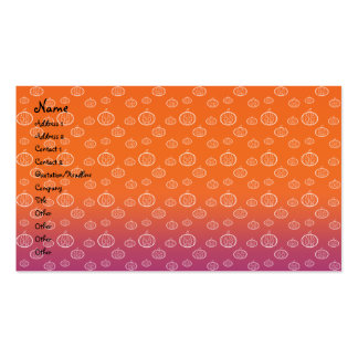 Pumpkins on orange and purple Double-Sided standard business cards (Pack of 100)