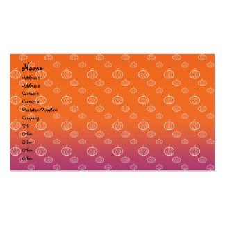 Pumpkins on orange purple fade Double-Sided standard business cards (Pack of 100)