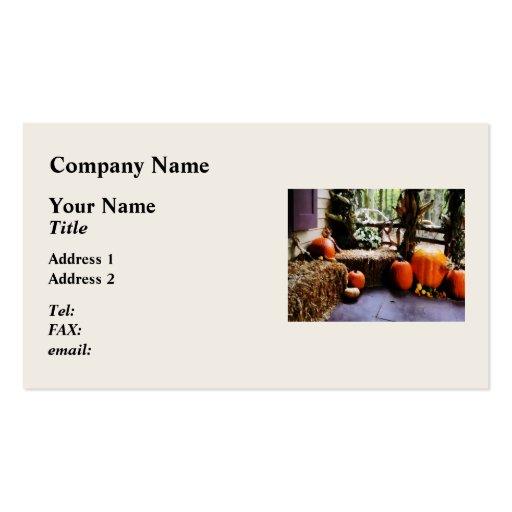 Pumpkins on Porch Business Card Template