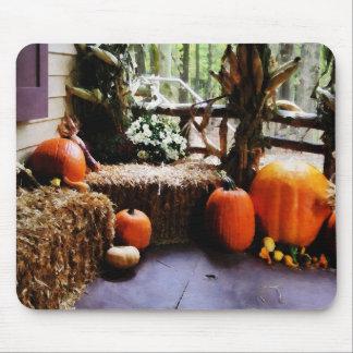 Pumpkins on Porch Mousepads