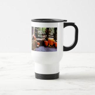 Pumpkins on Porch Coffee Mug