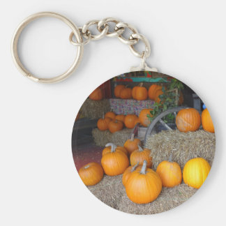 Pumpkins on Straw Keychain
