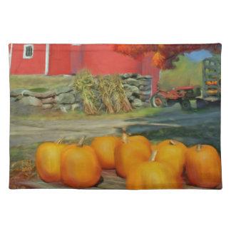 Pumpkins original oil painting handmade Placemats