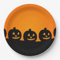 Pumpkins Paper Plate