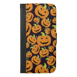 Pumpkins pattern for Halloween iPhone 6/6s Plus Wallet Case
