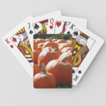 Pumpkins Photo for Fall, Halloween or Thanksgiving Playing Cards
