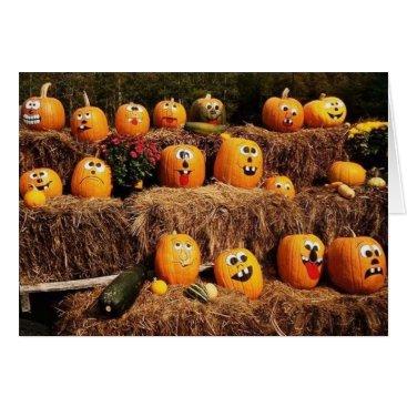 Halloween Themed Pumpkins Pumpkins Everywhere! Card