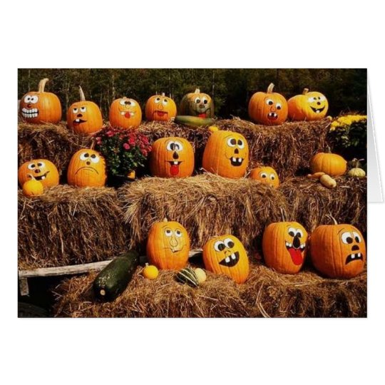 Pumpkins Pumpkins Everywhere! Card