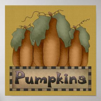 Pumpkins Sign/Print Poster