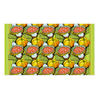 Pumpkins, Soup and Striped Background Double-Sided Standard Business Cards (Pack Of 100)