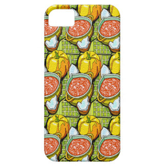 Pumpkins, Soup and Striped Background iPhone SE/5/5s Case