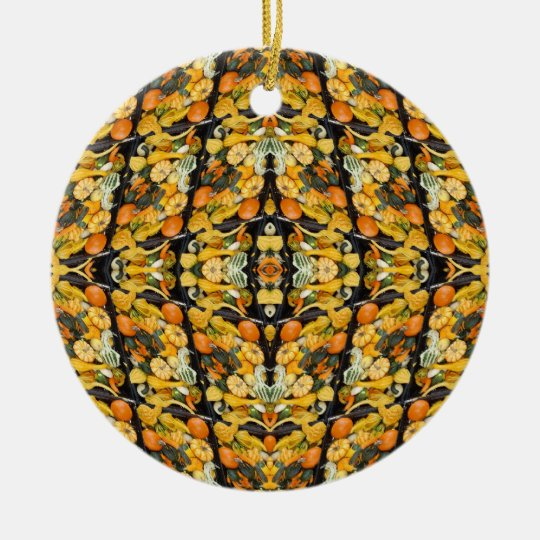 Pumpkins, Squash, and Gourds - Abstract Ceramic Ornament